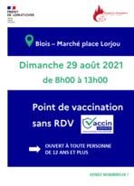 Un point de vaccination place Lorjoux le 29 08 21 large